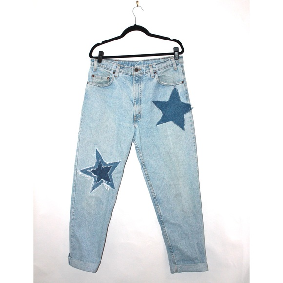 Levi's Denim - Levi's Custom Vintage Denim Star Motif Mom Jeans